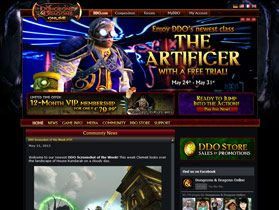 Dungeons and dragons online website screenshot